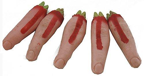 Severed Finger Gag Practical Joke Prank Toy 5 Pack