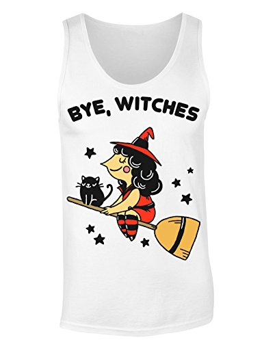 Bye, Witches Pretty Which Flying On Her Broom T-shirt senza maniche per Donne Shirt