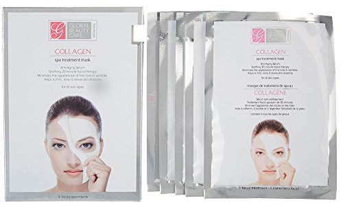 Global Beauty Care Collagen Spa Anti Aging Treatment Mask For All Skin Pack of 5 (Global Care)