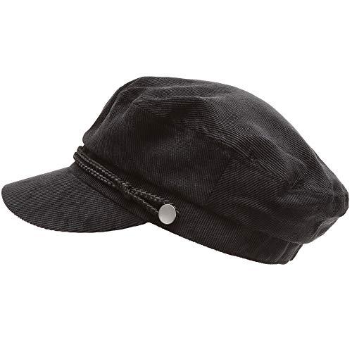 3c8ec608542ec MIRMARU Women s Winter Greek Sailor Fisherman Cabbie Cap Newsboy Baker boy  hat with Elastic Band (