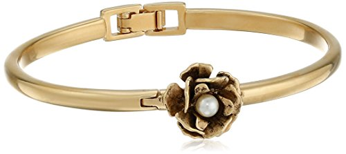 Flower Hinge - Marc Jacobs Flower Hinge Cream/Antique Gold Cuff Bracelet