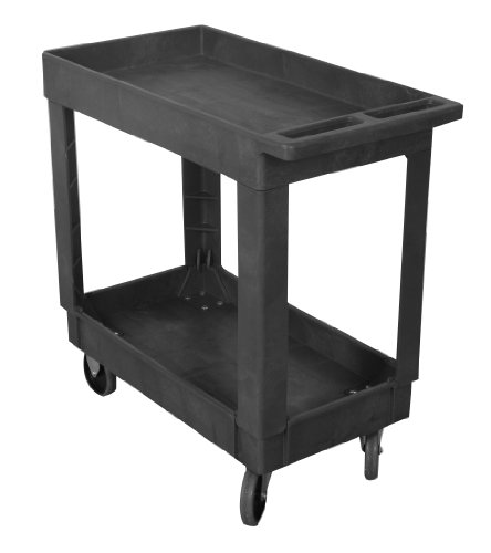 Wesco-Industrial-Products-270482-Plastic-Standard-Service-Cart-2-Trays-500-lb-Load-Capacity-3425-L-x-17375-W-x-325-H