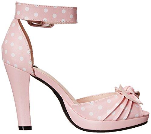 T Pink Polka Women's Toe Dot Starlet Heel Peep Pump Platform K U BBqPrwxTC