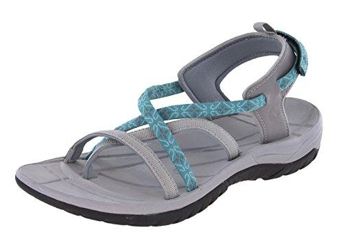 Northside Gray Covina Open Womens Strap Sport Sandal Toe Aqua 404rq
