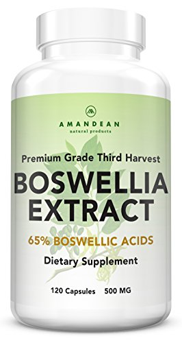 Premium Boswellia Serrata Extract | 500mg 120 Veggie Capsules | Standardized 65% Boswellic Acids with AKBA | Natural Ayurvedic Supplement (Indian Frankincense) for Inflammation and Joint Pain Relief* ()