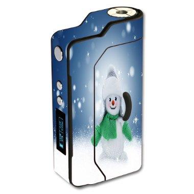 Sigelei 150W Temp Control Vape E-Cig Mod Box Vinyl DECAL STICKER Skin Wrap / snowman Xmas Winter Snow Stars Printed Design