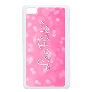 Y-M-D iPod Touch 4th generation Black/White Case Love Pink iTouch 4 Snap On Hard Cas