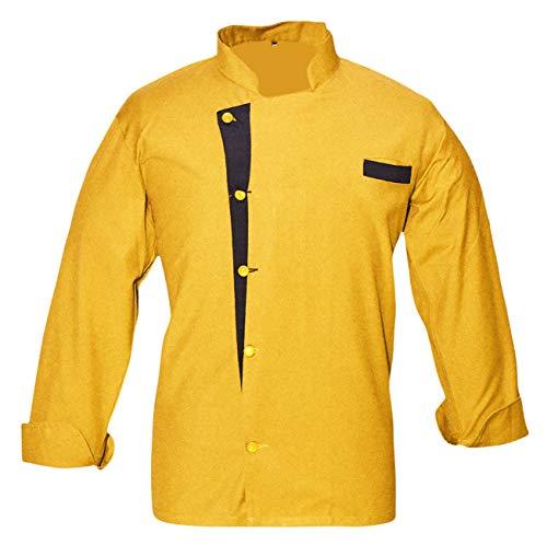 Leorenzo Creation NC-06 Men's Chef Coat (Size-L, Dark Yellow Colour)