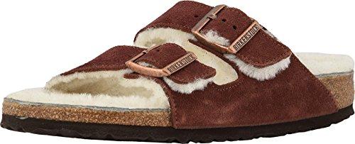 Birkenstock Arizona Port Natural Shearling Suede Unisex Sandals 36 (US Women