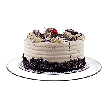 360 Degrees Glass Revolving Cake / Dessert Stand - Holds Up to 12  Size Cakes