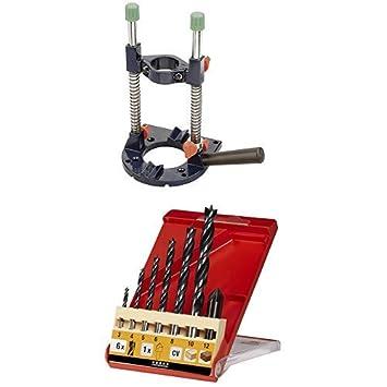 kwb Bohrmaschinen-St/änder Bohrmobil inkl Holzbohrersatz mit Senker