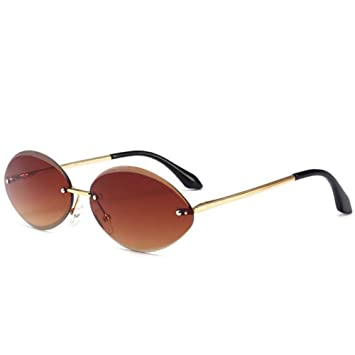 HYUHYU Gafas De Sol Ovaladas Pequeñas para Mujer Vintage ...