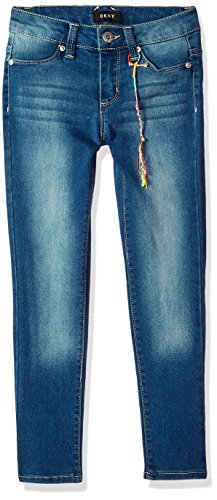 DKNY Girls' Toddler Jean, Ankle Blue wash, 2T