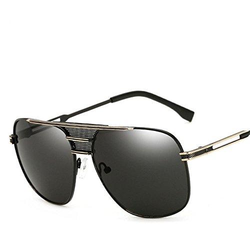 Chahua Lunettes de soleil Lunettes de soleil rétro personnalisé les hommes et les femmes européennes et américaines de la mode tendance lunettes de soleil, vent B