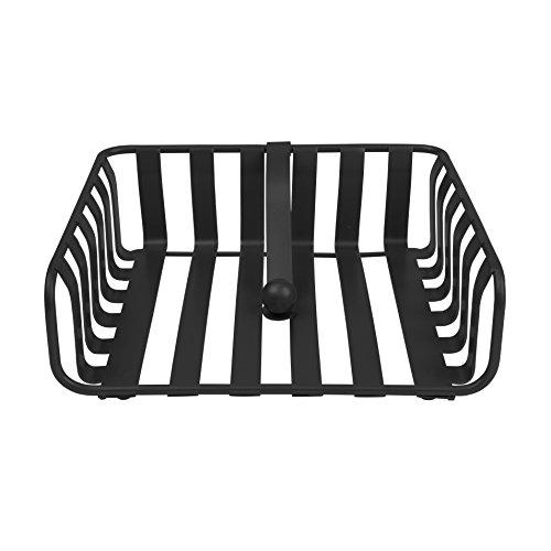 Spectrum Diversified Stripe Weighted Napkin Holder, Black
