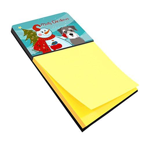 Caroline's Treasures Snowman with Schnauzer Sticky Note Holder, Multicolor (BB1826SN)