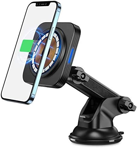 ESR HaloLock Dashboard Wireless Charger, Magnetic 7.5W Wireless Car Charger Mount, Magnetic Attachment and Alignment, Compatible with iPhone 12, 12 Pro, 12 Mini, 12 Pro Max, Black