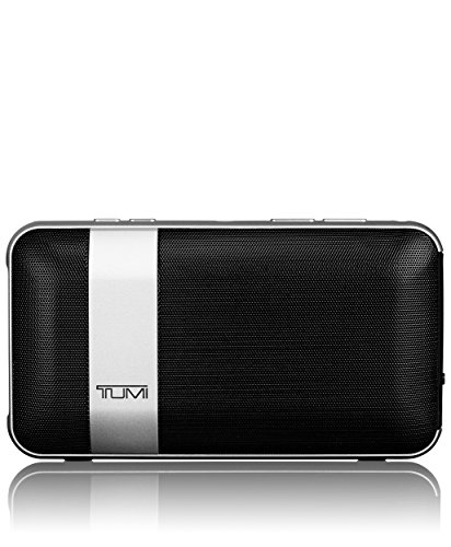 - TUMI - Wireless Portable Speaker with 1500mAh /1A Powerbank - Bluetooth Noise Cancelling with Built-In Mic - Black/Silver