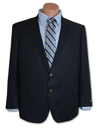 Jean Paul Germain Navy Comfort Stretch Travel Blazer (SHORT PORTLY 48) (Travel Sport Coat)