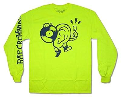 Rae Sremmurd Drummers Ear Logo Neon Green Long Sleeve Shirt