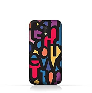 Motorola Moto E3 TPU Silicone Case With Abstract Font Seamless Pattern