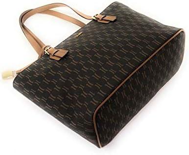 PRIMA CLASSE Donna Borsa Shopping Monogram Media Moro Mod. B001 9614
