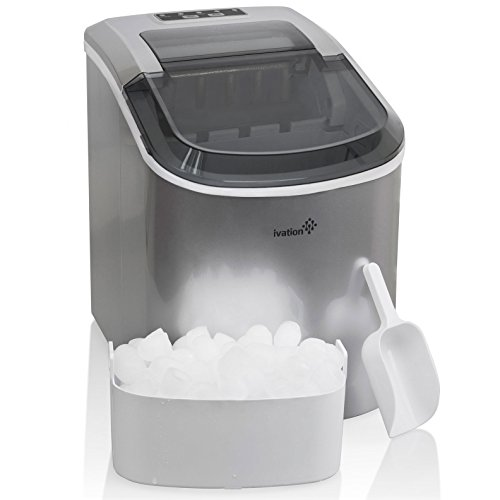 Portable Ice Maker for Counterop - Sleek Tinted Clear Top...