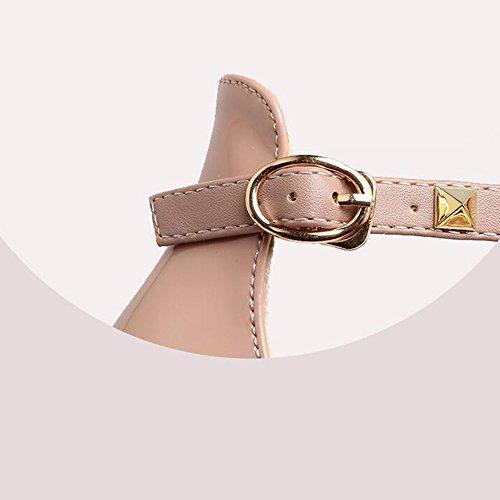 Casual Pu Donne Per Tacco cn36 Comfort Da Scarpe Nero Tacchi Donna Le Haizhen Dimensioni uk4 Rosa Eu36 Bianco Primavera Rosa Delle Estate Stiletto colore w0vXafq