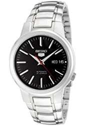 Seiko 5 Men's SNKA07 Automatic Black Dial Stainless Steel Watch