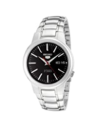 Seiko Men's 5 Automatic SNKA07K Silver Stainless-Steel Automatic Watch