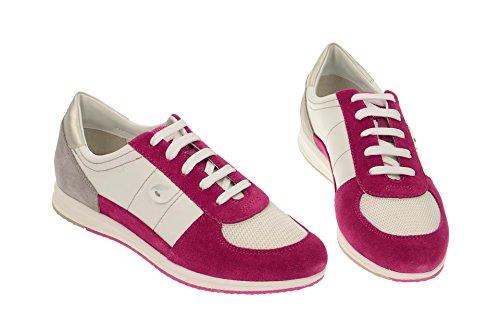 GeoxGeox Respira Avery Schnürschuhe in weiß pink - 2015 - zapatilla baja Mujer Rojo - rojo