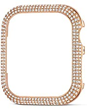 Swarovski Sparkling Smartwatch Case Compatible with Apple Watch Series 4 and 5, 40mm, Rose-Gold Tone