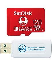 SanDisk 128GB Nintendo Switch Micro SD Card/Switch Lite Memory Card 128 GB High Speed (SDSQXAO-128G-GNCZN) Bundle with 1 TF/MicroSDXC Card Reader