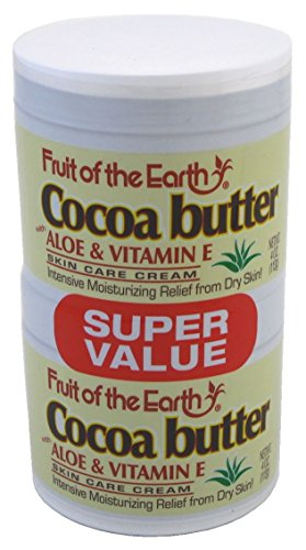 Fruit of the Earth Cocoa Butter, 4 Ounce Jars (Pack of 2)