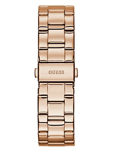GUESS Women's Stainless Steel Crystal & Glitter Accented Watch, Color: Rose Gold-Tone (Model: U0774L3)