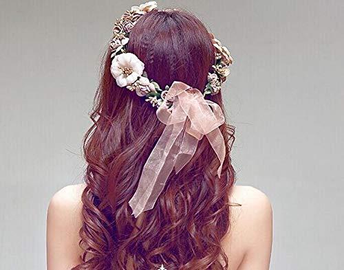 Diadema de flores para mujer accesorio para el pelo diadema corona Floral Garland Cratone