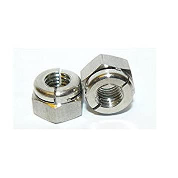 Self Locking Nut >> Amazon Com Aerotight M5 A2 Stainless Steel Self Locking Nut Pack