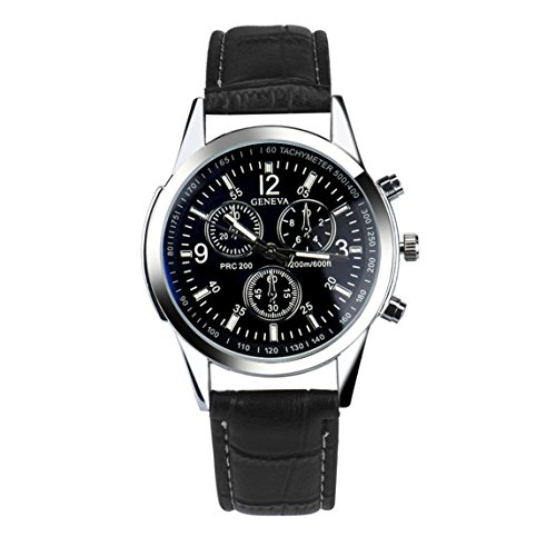 Nation Watch Clearance ♥ Fashion Man Crystal Stainless Steel Analog Quartz Wrist Watch (Black - Men Glasses Choosing