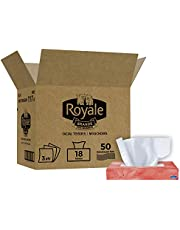 Royale 3 Ply Facial Tissue, Soft & Strong, 6 Tissue Boxes, 88 Tissues Per Box