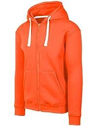 Mens Hipster Hip Hop Basic Heavyweight Zipup Hoodie Jacket (size upto 6XL Plus)