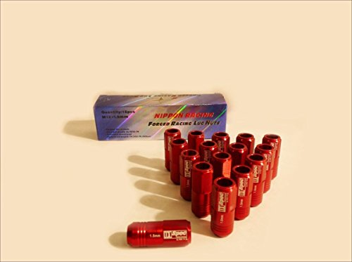 OBX Nippon Racing forged racing lug nuts 12x1.5mm 16Pcs D1-Spec Forged Red