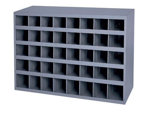 Durham 349-95 Gray Cold-Rolled Steel 40-Opening Bin, 33-3/4'' Width x 22-1/4'' Height x 8-1/2'' Depth by Durham