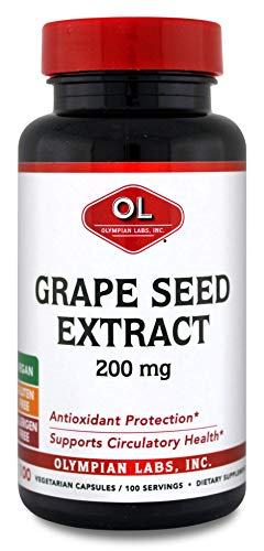 - Olympian Labs Grape Seed Extract Grape Seed Extract 200 mg, 100 Capsules