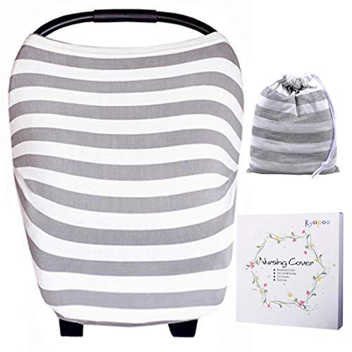 Kyapoo Baby Nursing Breastfeeding Cover Multi-Use Flexible Unisex Super Soft 100% Organic Cotton Gray