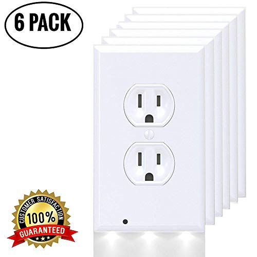 Blakell 6 Packs Outlet Cover, Electrical cover Plates Nightlight, Covers Plate Energy Efficient nightlights, Easy Installation Outlet Wall Plate for Your Home/Bathroom/Bedroom/Garage/Hallway/ by Blakell (Image #4)