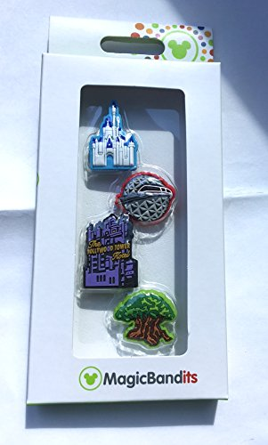 (Walt Disney World 4 Parks Magic Band Bandits Set of 4 Charms Tower of Terror)