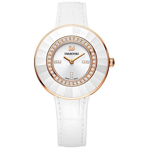 Swarovski Reloj analogico para Mujer de Cuarzo con Correa en Piel 5182265: Amazon.es: Relojes