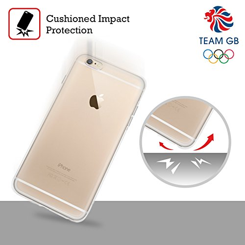 Official Team GB British Olympic Association Fluid Bands 1 Rio Soft Gel Case for Apple iPhone 5 / 5s / SE