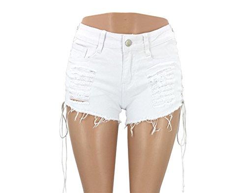 Pantaloncini da Ballo Alla Moda Casual da Uomo in Denim (S-XL)