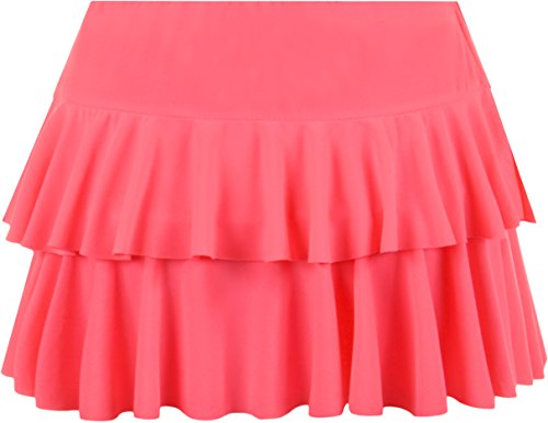 ruche jupe Jupes Femmes Mini Rose Tailles WearAll Fluorescent 42 36 EqanSg